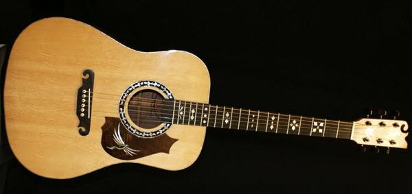 Custom Handmade Dreadnought Acoustic Guitar (Freebird)