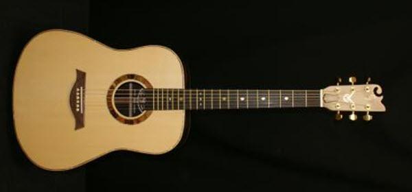 Custom Handmade Dreadnought Acoustic Guitar (Golden Spade)