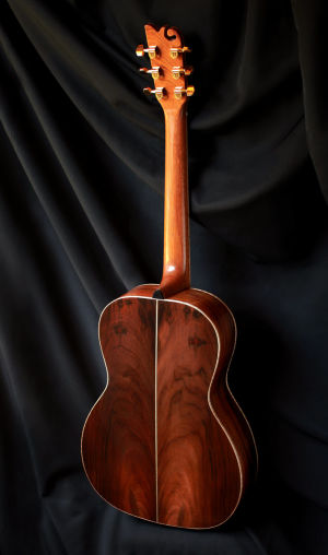 Custom Handmade Concert Acoustic Guitar with Brazilian Rosewood