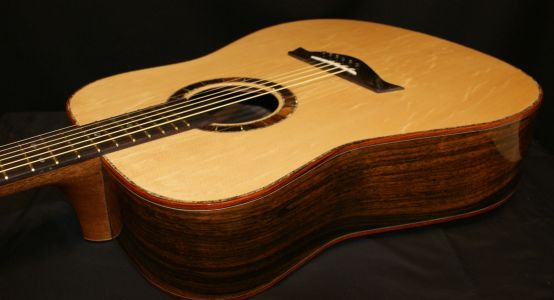 Custom Handmade Dreadnought Acoustic Guitar (Blue Diamond)