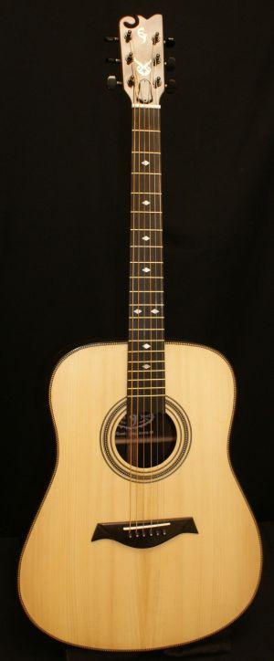 Custom Handmade Dreadnought Acoustic Guitar (Heart Breaker)