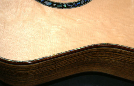 Custom Handmade Dreadnought Acoustic Guitar (Opal)