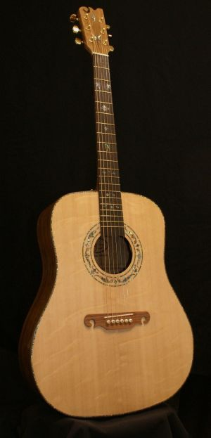 Custom Handmade Dreadnought Acoustic Guitar (Palm Tree)