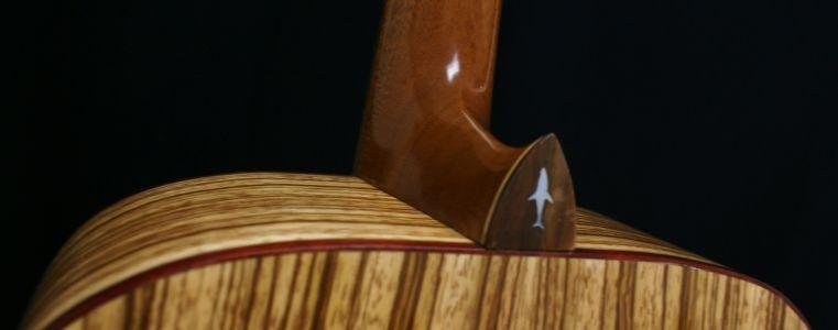 Custom Handmade Dreadnought Acoustic Guitar (Sharktooth)