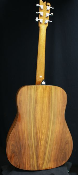 Custom Handmade Dreadnought Acoustic Guitar (White Flame)