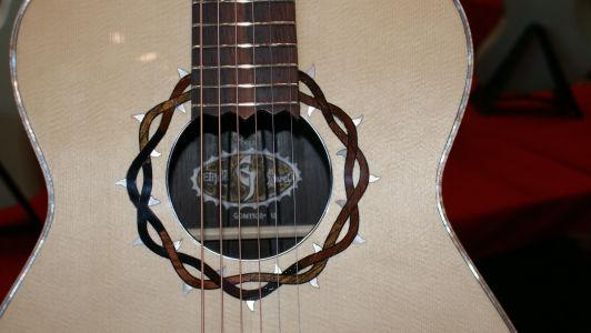 Custom Handmade Grand Auditorium Acoustic Guitar (Crown of Thorns)