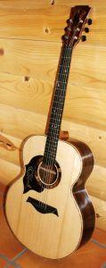Custom Handmade Jumbo Acoustic Guitar (Buffalo)