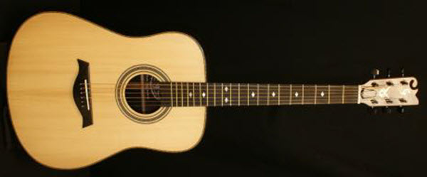 Custom Handmade Dreadnought Acoustic Guitar (Heart Breaker)