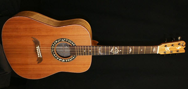Custom Handmade Dreadnought Acoustic Guitar (Sharktooth)