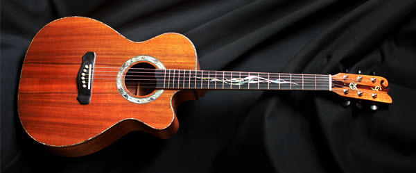 Custom Handmade Grand Auditorium Acoustic Guitar with Venetian Cutaway