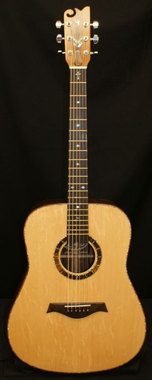 Custom Handmade Dreadnought Acoustic Guitar (Blue Diamond)
