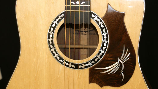 Custom Handmade Dreadnought Acoustic Guitar (Freebird)