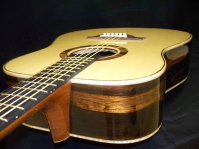 Custom Handmade Dreadnought Acoustic Guitar (Golden Spade)