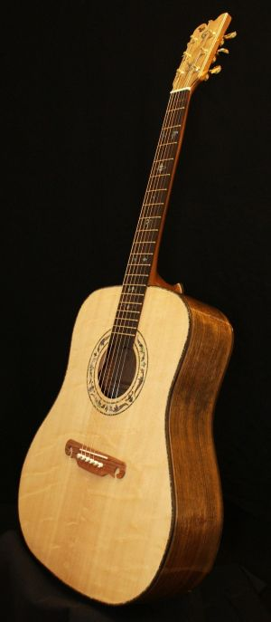 Custom Handmade Dreadnought Acoustic Guitar (Palm Tree)